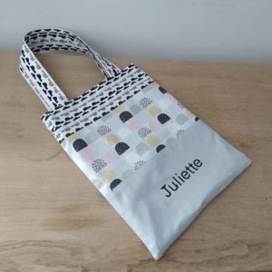 Sac cabas maternelle personnalisable